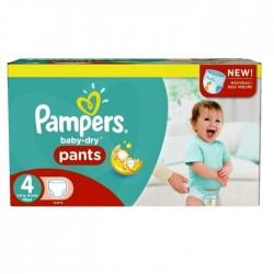 Giga Pack d'une quantité de 230 Couches Pampers Baby Dry Pants taille 4 sur 123 Couches
