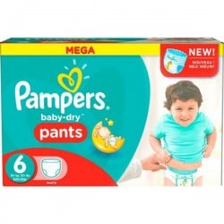 Gros pack 190 Couches de la marque Pampers Baby Dry Pants de taille 6