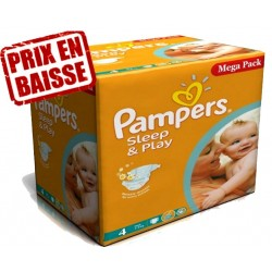 Gros pack 250 Couches de Pampers Sleep & Play de taille 4 sur 123 Couches
