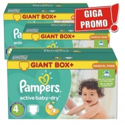 Gros pack de 696 Couches Pampers Active Baby Dry de taille 4