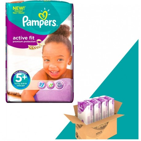 Giga Pack 348 Couches Pampers Active Fit taille 5+ sur 123 Couches