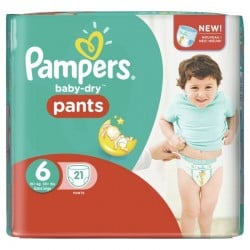 Pack 21 Couches Pampers Baby Dry Pants 6 sur 123 Couches