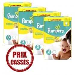 Pack économique 232 Couches Pampers Premium Protection 3