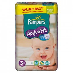 Pack 44 Couches Pampers Active Fit de taille 5 sur 123 Couches