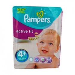 Pack 44 Couches Pampers de la gamme Active Fit taille 4+ sur 123 Couches