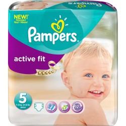 Pack de 45 Couches Pampers de la gamme Active Fit taille 5 sur 123 Couches