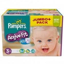 Pack d'une quantité de 120 Couches Pampers Active Fit de taille 3