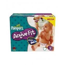 Pack d'une quantité de 360 Couches de la marque Pampers Active Fit de taille 3
