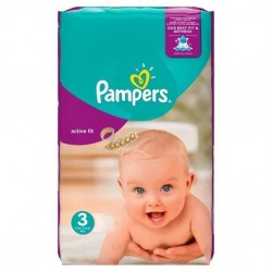 Pack de 62 Couches Pampers Active Fit de taille 3