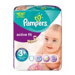 Pack 70 Couches Pampers de la gamme Active Fit de taille 3+ sur 123 Couches