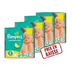 Pack économique 272 Couches Pampers New Baby Dry 2