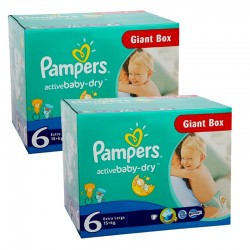Giga Pack 288 couches Pampers Active Baby Dry sur 123 Couches