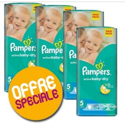 Pack économique 232 Couches Pampers Active Baby Dry 5 sur 123 Couches