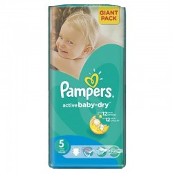 Pack 42 Couches Pampers Active Baby Dry taille 5 sur 123 Couches