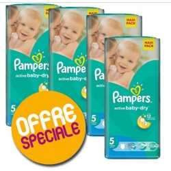 Giga Pack 504 Couches Pampers Active Baby Dry taille 5 sur 123 Couches
