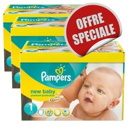 Maxi Mega pack 516 Couches Pampers New Baby Dry 1