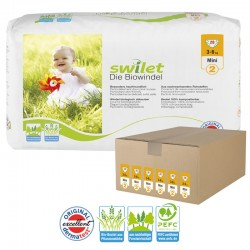 Maxi Giga pack 168 Couches bio écologiques Swilet taille 2