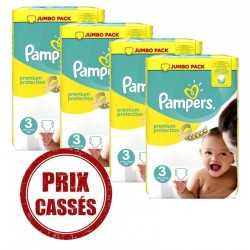 Maxi pack 200 Couches Pampers Premium Protection taille 3 sur 123 Couches