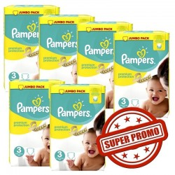 Maxi pack 400 Couches Pampers Premium Protection taille 3 sur 123 Couches
