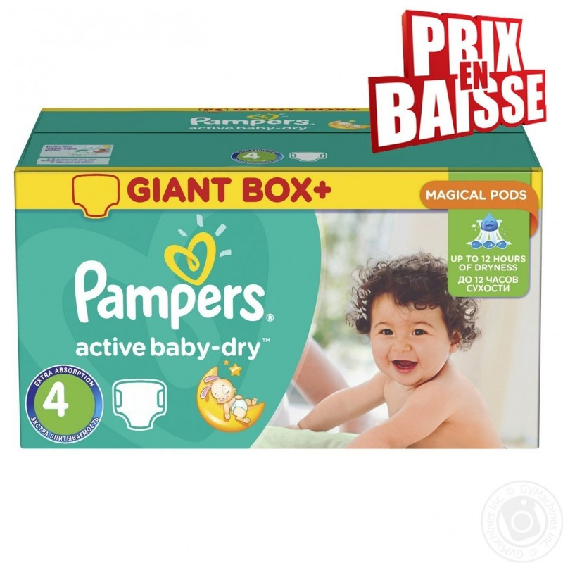 308 couches pampers active baby dry taille 4 pas cher sur - Couches pampers 4 pas cher ...