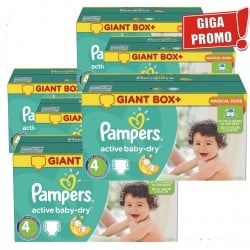 Maxi Pack 792 Couches Pampers Active Baby Dry taille 4 sur 123 Couches