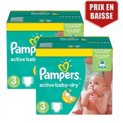 Giga Pack 410 Couches Pampers Active Baby Dry taille 3
