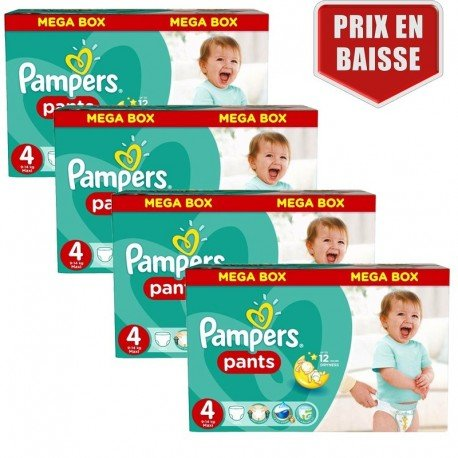 Maxi Pack 470 Couches Pampers Baby Dry Pants taille 4 sur 123 Couches