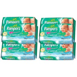 Mega pack 378 Lingettes Bébés Pampers Fresh Clean - Made in Japan sur 123 Couches