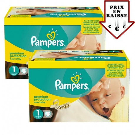 Giga pack 345 Couches Pampers New Baby taille 1 sur 123 Couches