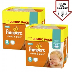 Giga pack 476 Couches Pampers Sleep & Play taille 2