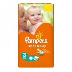 Pack 16 Couches Pampers Sleep & Play taille 3 sur 123 Couches
