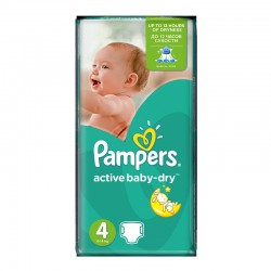 Pack 49 Couches Pampers Active Baby Dry taille 4 sur 123 Couches