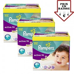 giga pack 470 Couches Pampers Active Fit taille 4+ sur 123 Couches
