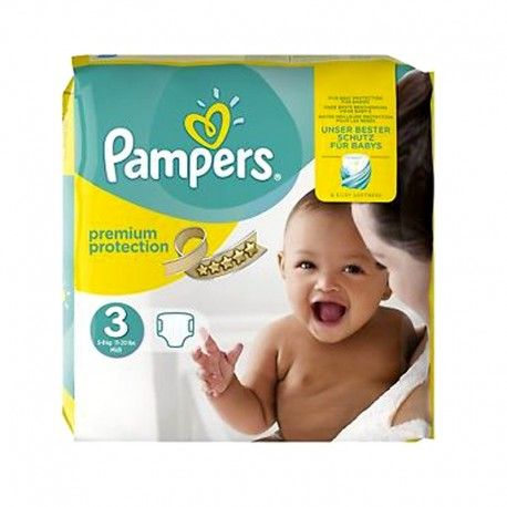 Pack 80 Couches Pampers Premium Protection - New Baby taille 3 sur 123 Couches