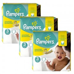 Maxi Giga Pack 240 Couches Pampers Premium Protection - New Baby taille 3