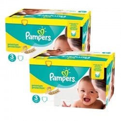 Maxi Mega Pack 400 Couches Pampers Premium Protection - New Baby taille 3 sur 123 Couches
