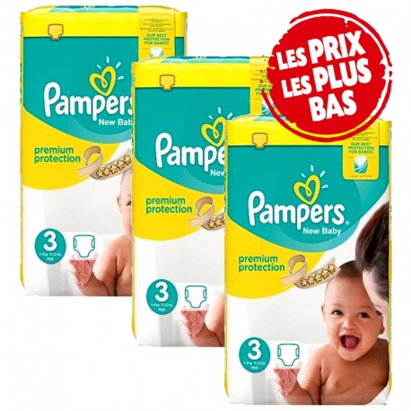 Giga Pack 174 Couches Pampers Premium Protection - New Baby taille 3 sur 123 Couches
