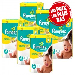 Maxi Mega Pack 348 Couches Pampers Premium Protection taille 3