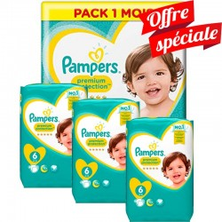 Maxi Giga Pack 480 Couches Pampers Premium Protection - New Baby taille 6 sur 123 Couches