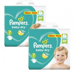 Mega Pack 112 Couches Pampers Baby Dry taille 7 sur 123 Couches