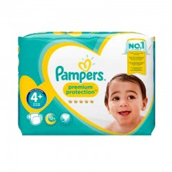 Pack 62 Couches Pampers Premium Protection - New Baby taille 4+ sur 123 Couches