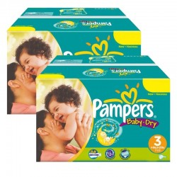Pack Jumeaux 408 couches Pampers Baby Dry