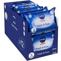 Mega Giga Pack 756 Lingettes Bébés Nivea - Fresh sur 123 Couches
