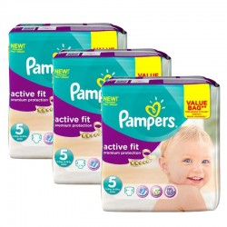 Mega Pack 276 Couches Pampers Active Fit taille 5
