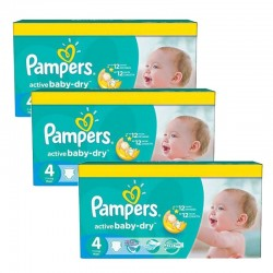 Giga Pack 360 Couches Pampers Active Baby Dry taille 4+