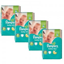 Giga Pack 188 Couches Pampers Baby Dry taille 3+