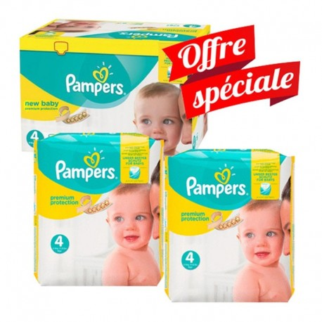 Mega Pack 312 Couches Pampers New Baby - Premium Protection taille 4 sur 123 Couches