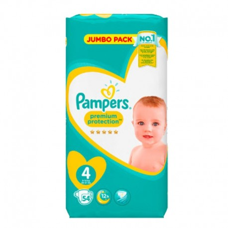 Pack 54 Couches Pampers New Baby - Premium Protection taille 4 sur 123 Couches