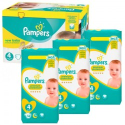 Giga Pack 270 Couches Pampers New Baby - Premium Protection taille 4