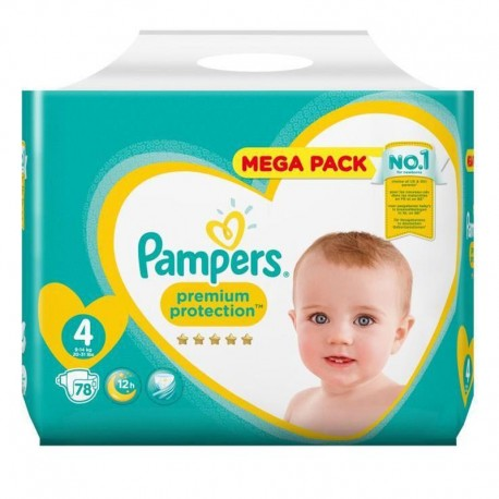 Pack 78 Couches Pampers New Baby - Premium Protection taille 4 sur 123 Couches